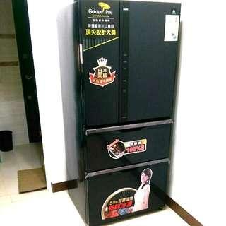 超低價出清再降價未拆膜鋼烤鏡面智慧變頻頂級聲寶四門560公升冰箱sampo