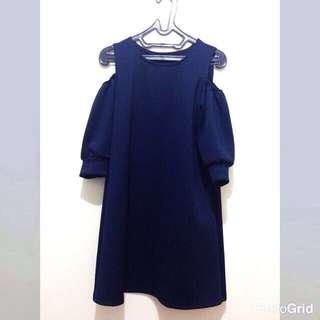 Sabrina Navy Dress - Premium Scuba