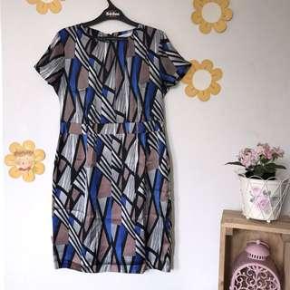 Accent Geometric Dress