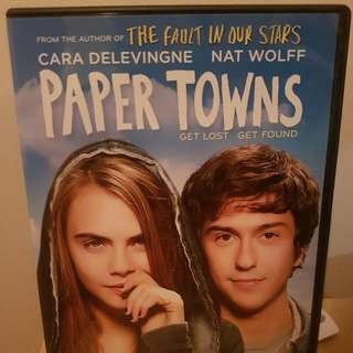 Paper Towns DVD Cara Delevingne Nat Wolff