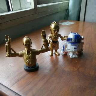 Star Wars Miniature C3P0 And R2D2