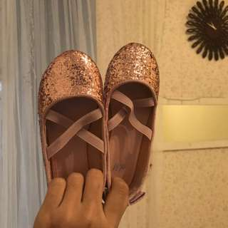 H&M Sequin Ballet Shoes ( Unworn)