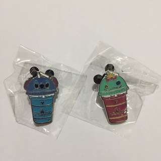 迪士尼徽章 DISNEY PIN 沙冰杯 系列 史迪 小金