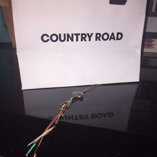 Country Road Stone Feather Necklace