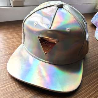 Hater 雷射 反光 板帽 帽子 老帽