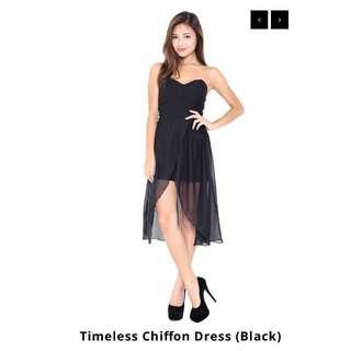 Carrislabelle Timeless Chiffon Dress (Black)