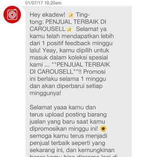 Thanks Again, Carousell! 💓