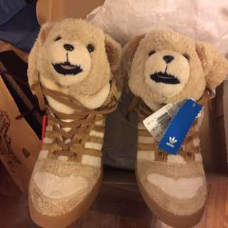 Adidas Jeremy Scott Brown Teddy Bear Sneakers