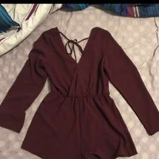 Maroon playsuit
