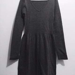 Cotton Blend Knit Dress