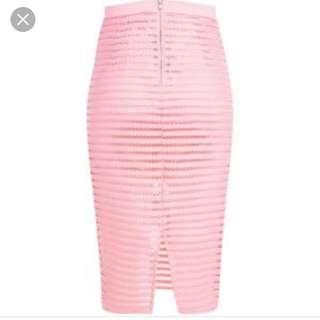 Bardot Bnwt Linear Stripe Skirt Pink 10