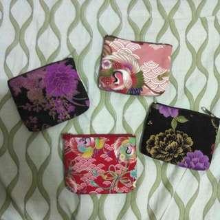 四件價!日系和風棉布零錢包