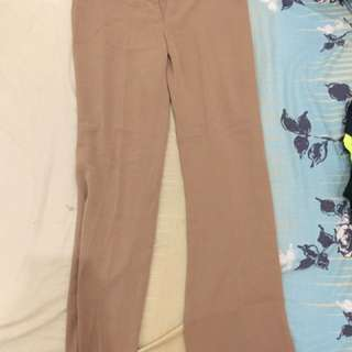 Minimal Brown Long Pants #ClearanceSale