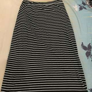 Long Stripes Skirt #ClearanceSale