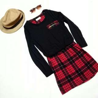 Black And Red Gingham Dress