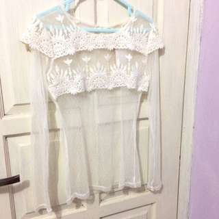 Lace Top Transparant By MAGNOLIA