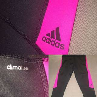 Adidas Climalite Tights, Women's Black/Pink. XS. Authentic & New