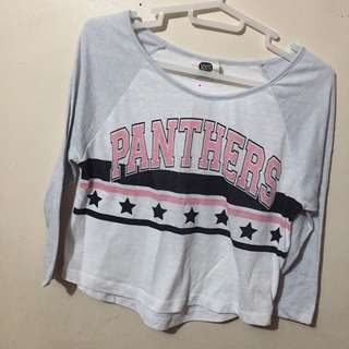 Cotton On - Panthers 3/4 Sleeves Crop Top