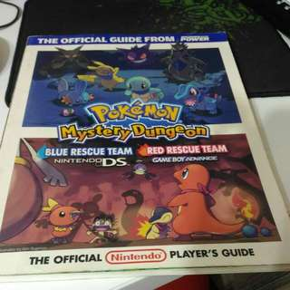 Pokemon Mystery Dungeon Blue / Red Rescue Team Guidebook Player's Guide Book