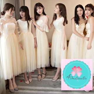 (PO) Korean Bridesmaids Midi Dress
