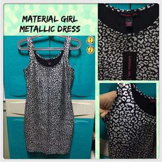 Material Girl Metallic Dress