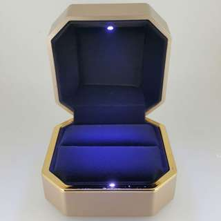 Premium Gold LED Ring Box in Gold