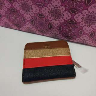 New Fossil Zip Mini Wallet