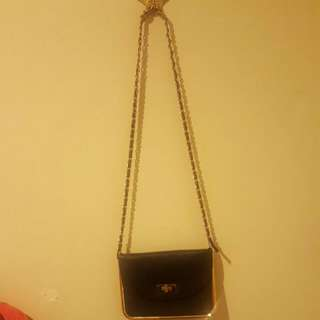 Black & Gold COLETTE HAYMAN Shoulder Bag