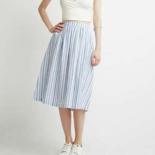 UNIQLO Striped Midi Skirt