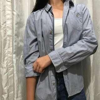 Zara Boyfriend Blue Shirt