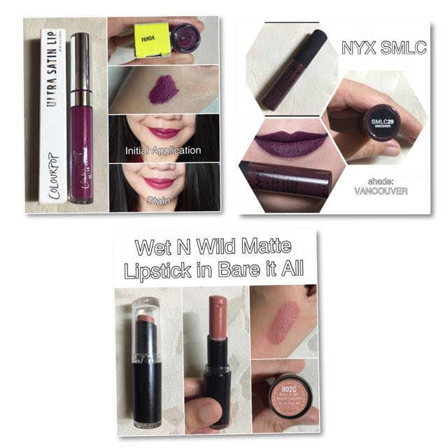3 assorted lippies for P450.00