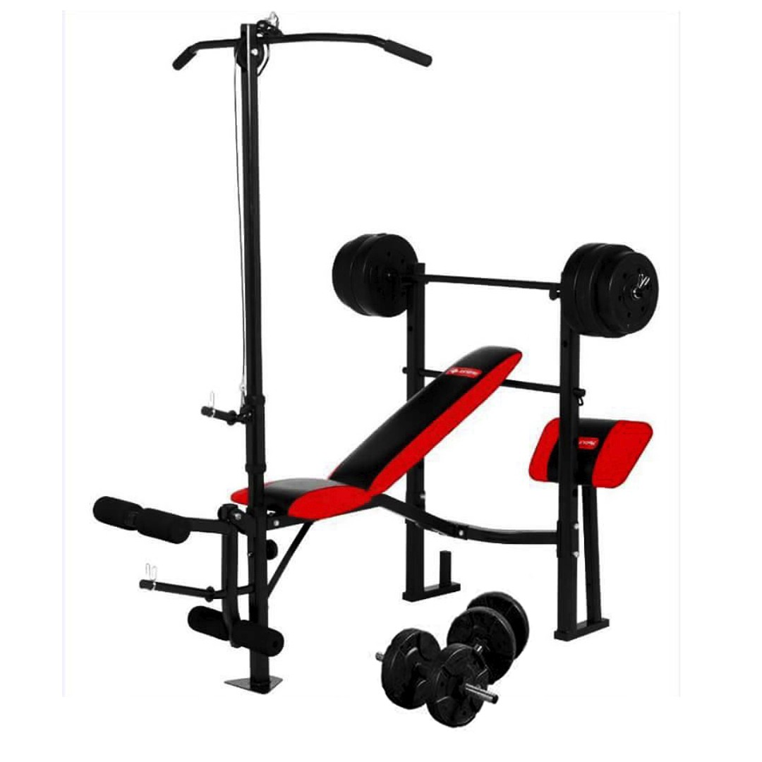 8in1 Gym Equipment, Barbell and Dumbbell Set with Plates
