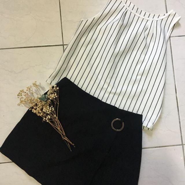 韓版扣環褲裙