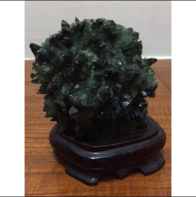 (降!)深綠色天然水晶簇