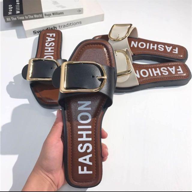 金釦環 拖鞋