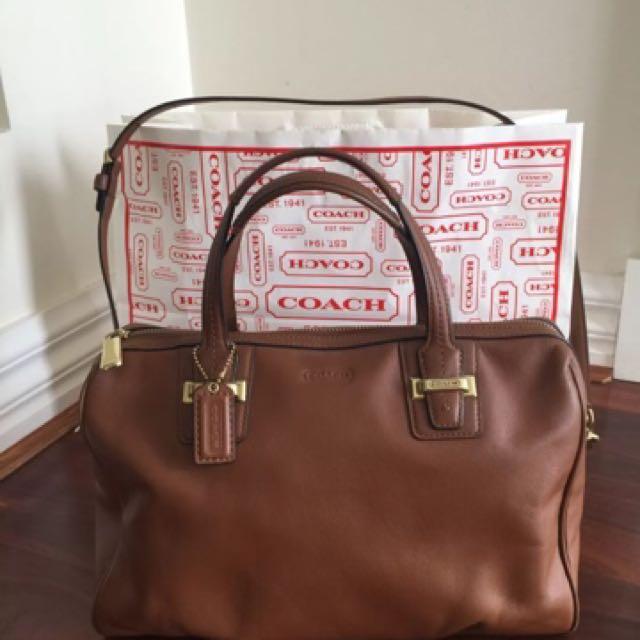 💯 Authentic Coach Leather Bag