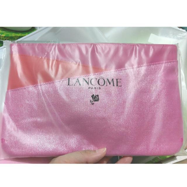(免運)蘭蔻 LANCOME 桃紅時尚拼接包