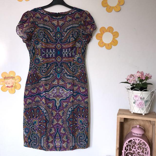 Accent Purple Dress