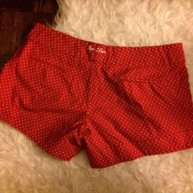Adorable Red Polka Dot Shorts