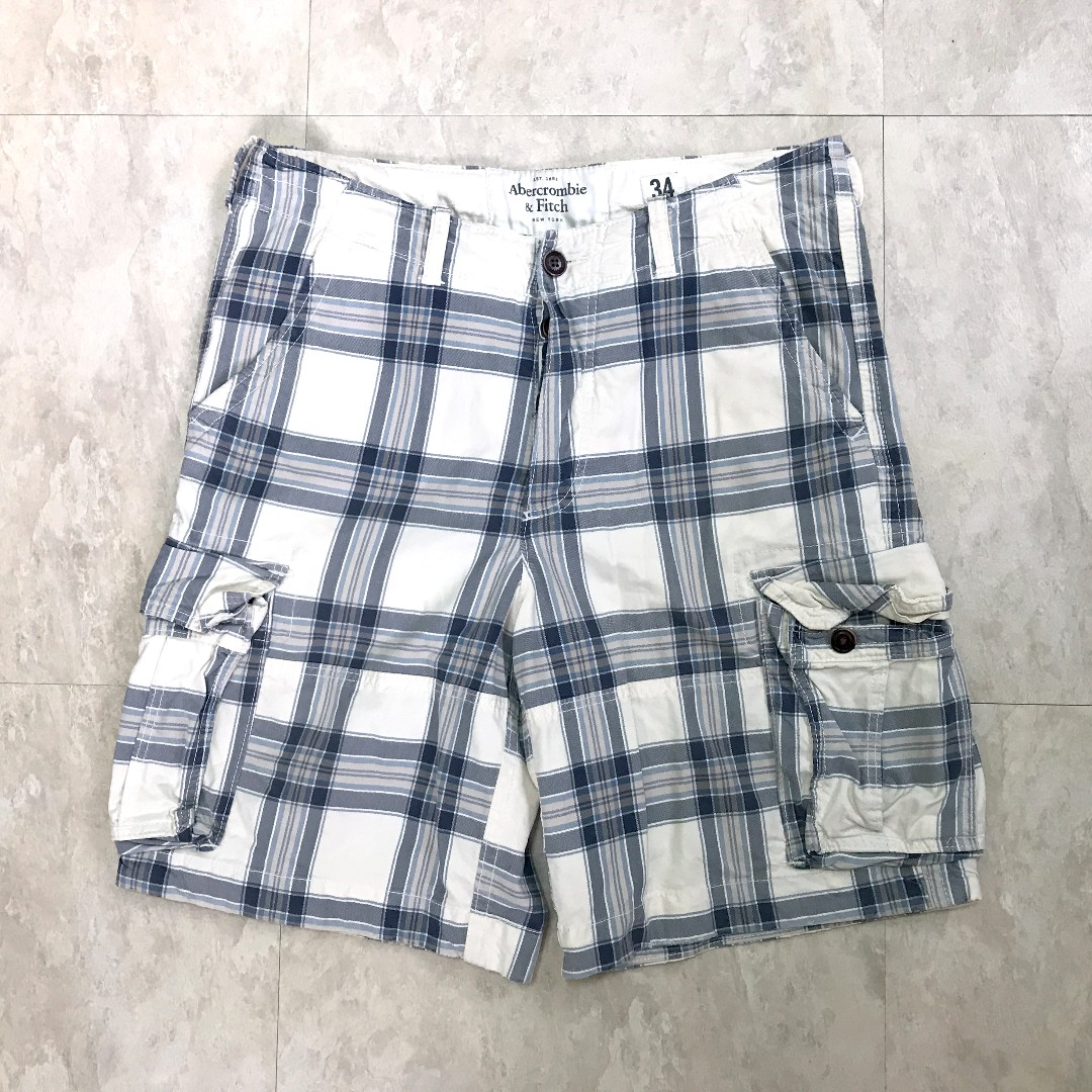 A&F 格子口袋短褲