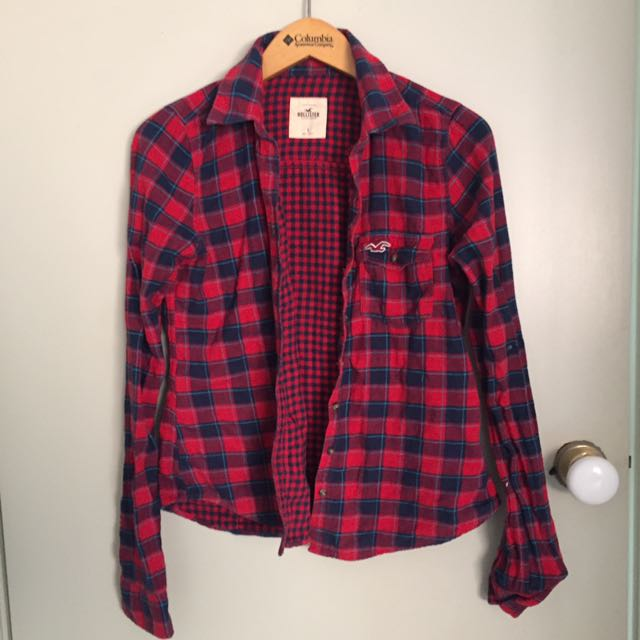 A&F Plaid Top size S
