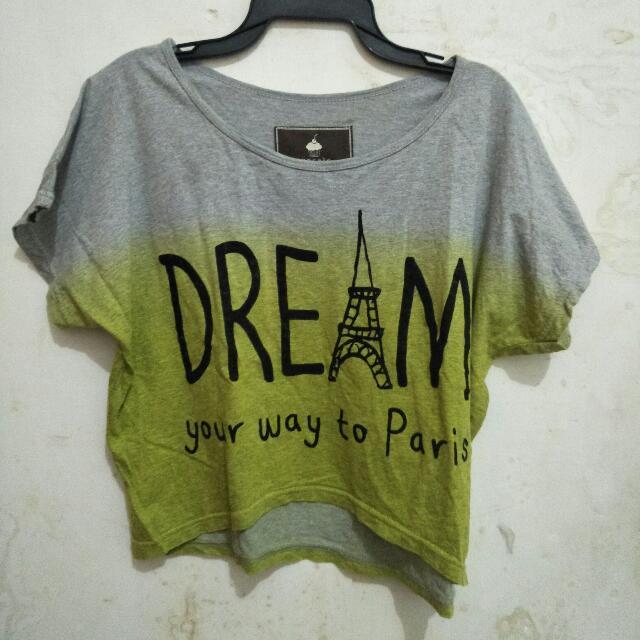 Baju Crop Top Dream