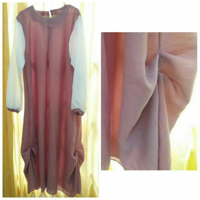 Baju Muslim Belum Pernah Dipake Sama Sekali + Belum Dicuci Baru Cabut Price Tag, Include Ongkir 115.000 Harga Beli 200rb