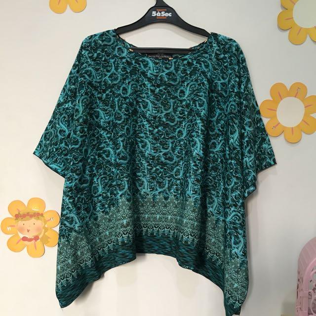 Batik Top Teal