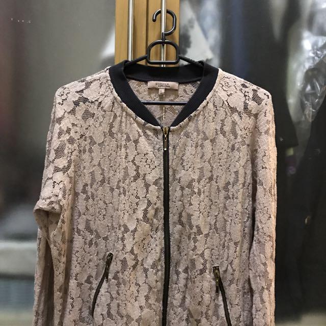 Bershka Floral Lace Jacket