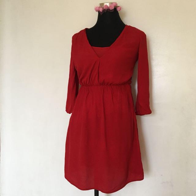 Bershka Red Dress