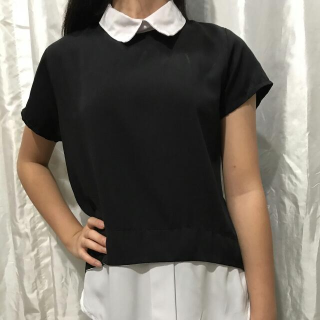 Black Collar Shirt