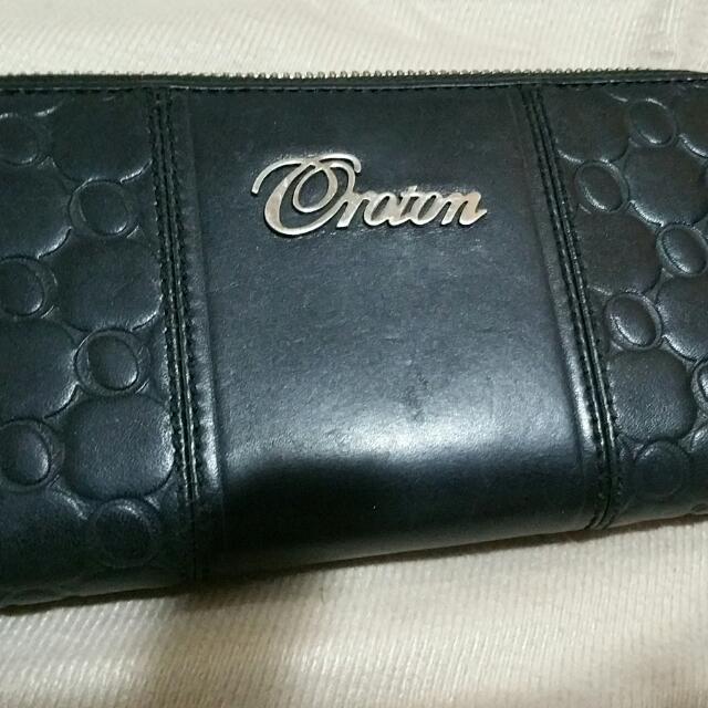 Black OROTON leather Wallet