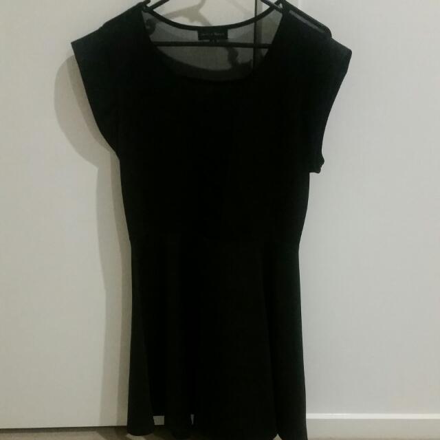 Black Skater Style Dress