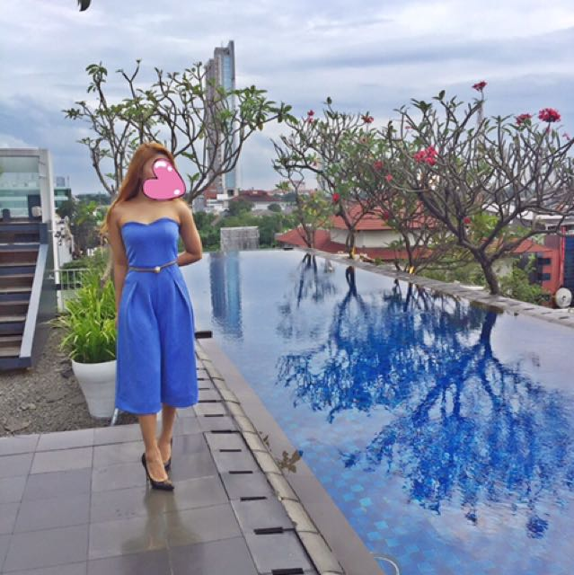 Blue Jumpsuit Kulot